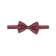 Галстук бабочка ScottishTartan Check Bow Tie Red&White