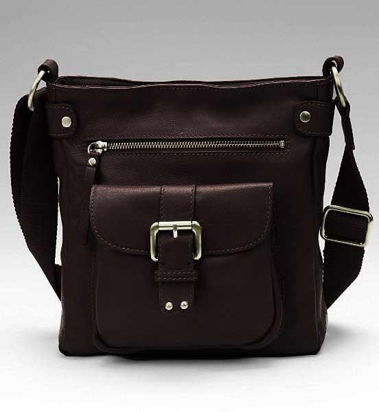 22 см x... Кожаная женская сумка через плечо из коллекции Portfolio.  T836678A.
