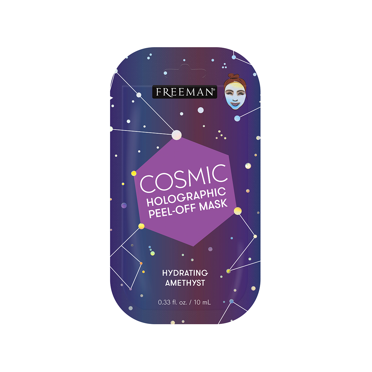 Увлажняющая маска-пленка Freeman Cosmic Hydrating Amethyst Holographic Peel-Off Mask 10 мл
